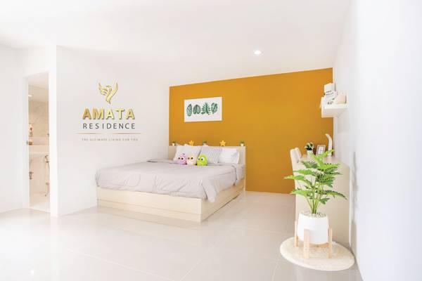 อมตะเรสซิเด้นท์ Amata Residence อพาร์ทเม้นท์ราคาถูก ห้องพักแอร์ แต่งครบแบบมีเฟอร์นิเจอร์